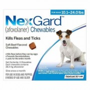 Nexgard Chewables For Medium Dogs 10.1-24 Lbs (Blue) 28mg 12 Chews