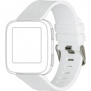 zamjenska traka Topp für Fitbit Versa bijela