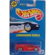 Hot Wheels 1990 RED Lamborghini Diablo Coll #123 1:64 Scale