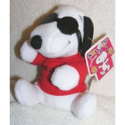 "Peanuts Plush 6"" Snoopy Joe Cool With Glasses Bean Bag Doll"