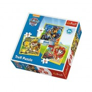 Puzzle Trefl 3 in 1, Paw Patrol, Eroii catelusi, 106 piese