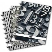 Caiet A5, 72 file - 90g/mp, coperta PP, AURORA Adoc Black collection - matematica