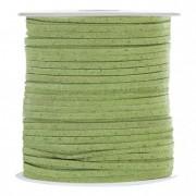 Bőr zsinór 3mmx45m alma zöld