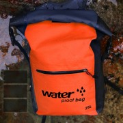 25L Large Capacity Outdoor Sports Backpack Waterproof Foldable Double Shoulder Bag - Orange