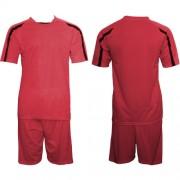 Футболен екип, фланелка с шорти червено и черно