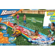 Banzai Colossus Super Slide Water Inflatable Air Spring Summer Body Board 25 Ft Backyard Fun Slick Tech Toy