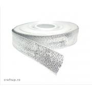 Bandă decorativă Alexa 15mm - Argintiu (rolă 50m)