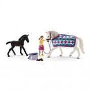 Schleich Horse Club Lippizaner Care Figurine Play Set
