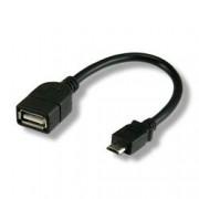 Techly Cavo USB 2.0 OTG A Femmina / Micro B Maschio 0.2 m