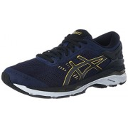 ASICS Men's Gel-Kayano 24 Peacoat/Black/Rich Gold Running Shoes - 8 UK/India (42.5 EU)(9 US)