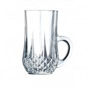 Eclat Cristal d'Arques Tasse à thé 14 cl en cristallin - Lot de 6 - Longchamp - Eclat Cristal d'Arques