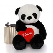 Super Giant 7 Feet Bao Panda Teddy Bear Soft Toy with Red I Love You Heart