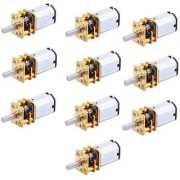 Stookin 10pcs N20 3.7V - 6V 100 RPM Micro Gear Reduction DC Motor with 301 Metal Gearbox For RC Car Robot Toys DIY