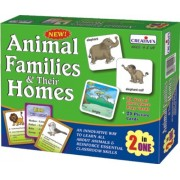 Creative Educational Aids 1016 Animal Families and Their Homes (2 in 1)