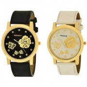 RIDIQA Black Strap White Dail Combo Watches for girl's combo RD-61-58