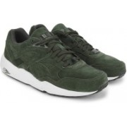 Puma R698 Allover Suede Men Mid Ankle Sneaker For Men(Olive, White)
