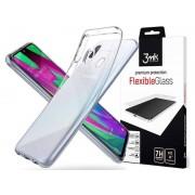 Etui Spigen Liquid Crystal do Samsung Galaxy A40 Clear + Szkło 3mk