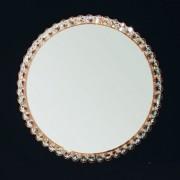 Oglinda eleganta decorata cu cristale Lauro auriu, 60cm 13K/605.01.002 OR