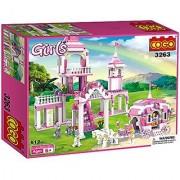 COGO Girls the Cinderella Pumpkin Coach Castle Toys for Girls Building Block Construction Toy Set 512 Pieces - 3263