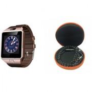 Zemini DZ09 Smart Watch and Katori Earphone for SAMSUNG GALAXY NOTE 5 DUAL(DZ09 Smart Watch With 4G Sim Card Memory Card| Katori Earphone)