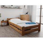 Emily ágy 90x200 cm, tölgyfa Matrac: Economy 10 cm matraccal, Ágyrácsok: Ágyács nélkül