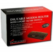 Router Intellinet Firewall Switch Dsl 523288 Servidor Dhcp-Negro