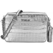 Michael Kors Women Evening/Party Silver Genuine Leather Sling Bag(Imported)