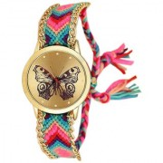 VITREND (R-TM) New Stylish Look Multi Color Butterfly Analog Thread Watch for Girls Women (Random Colors Will be Sent)