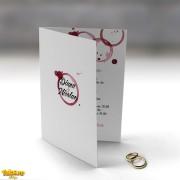 Invitaţie de nuntă Wine Stains