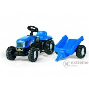 Tractor cu pedale Rolly Kid New Holland T 7040 cu remorcă