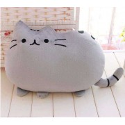 Cute Stuffed Grey Cat Plush Animal Soft Toy