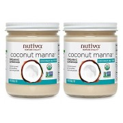 Nutiva Pack of 2 x Coconut Manna 15 oz