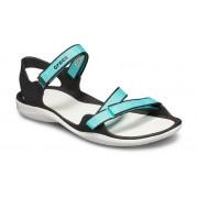 Crocs Swiftwater™ Webbing Sandalen Damen Pool / White 38