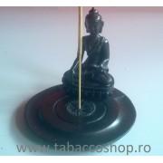 Statueta Buddha cu suport tip farfurie pt betisoare parfumate 10cm