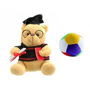 JRP Mart Musical Soft Bachelor Boy With Convocation Degree Soft Toy For Kids And Multicolour Little Ball