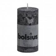 Bolsius Stompkaars rustiek 10x5 cm antraciet