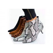 Qingdao Sihaihuifeng Trade LTD t/a YelloGoods £12.99 instead of £49.99 for a pair of ladies kitten heel ankle boots in Black, Brown, Leopard or Snake Print in UK sizes 4-7 from Yello Goods – save 74%
