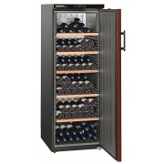 Vitrina pentru vinuri Liebherr WKr 4211, 377 L, 200 sticle, Rafturi lemn, Control taste, Display, H 165 cm, Clasa A++, Negru