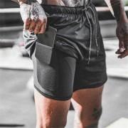 Sportbroek heren met binnenzak smartphone - Shorts - Lopen - Mobiel - Fitness - Maat M