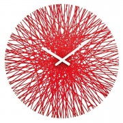Koziol Nástěnné hodiny SILK,kulaté - barva červená, KOZIOL