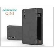Huawei P20 oldalra nyíló flipes tok - Nillkin Qin - fekete
