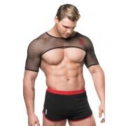 JJ Malibu Mesh Short Sleeves Harness Black JJTOP030