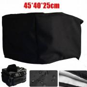18X16x10 ''Polyester-katoen Blend Printer Zwart Cover voor Workforce WF-3620 Stoel Tafelkleed Zwart buitenste zilvergrijs Voering