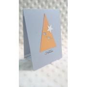 Felicitare de Crăciun Brăduţ cu stele