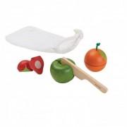 Plan Toys Nauka przez zabawę Plan Toys Owoce do krojenia, 3 el.