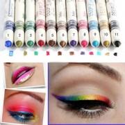 MN 12 Colors Waterproof Glitter Eyeliner Eyeshadow Lip Pencil Pen Cosmetic Makeup