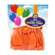 Busta palloncini large arancio 20 pz
