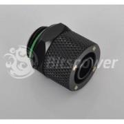 Fiting compresie alama Bitspower 1/4inch la 11/8mm Matte Black