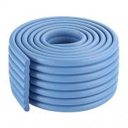 2m/6.5ft All-Match Lake Blue House Door Slammer Guards Rubber Brick Edge Protectors for Baby Toddler