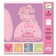 Szablony dla dzieci do odrysowania Księżniczka, nauka rysowania DJECO DJ08817